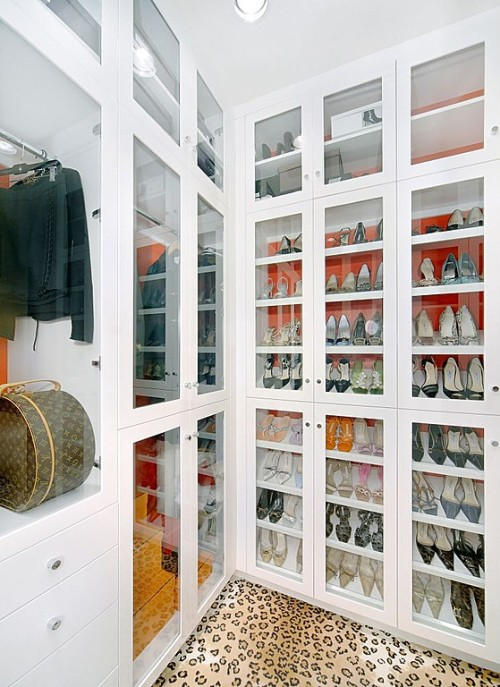 "Walk-in closet in the ""Solano"" residence by Zillow Digs designer Jamie Herzlinger."