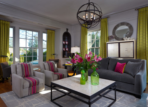 Bright colors make this older home feel new again. Source: Jamie Beckwith