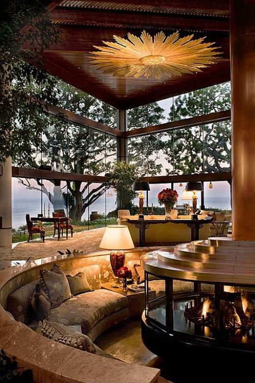 Meet celebrity home designer chris barrett zillow porchlight for Sunken living room 70 s