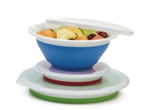 Collapsible and stackable bowls like these from Progressive International can serve many purposes.