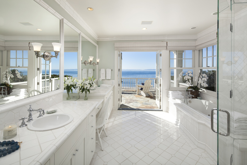 Update dennis miller sells glam beach mansion for 19m for House bathroom photos