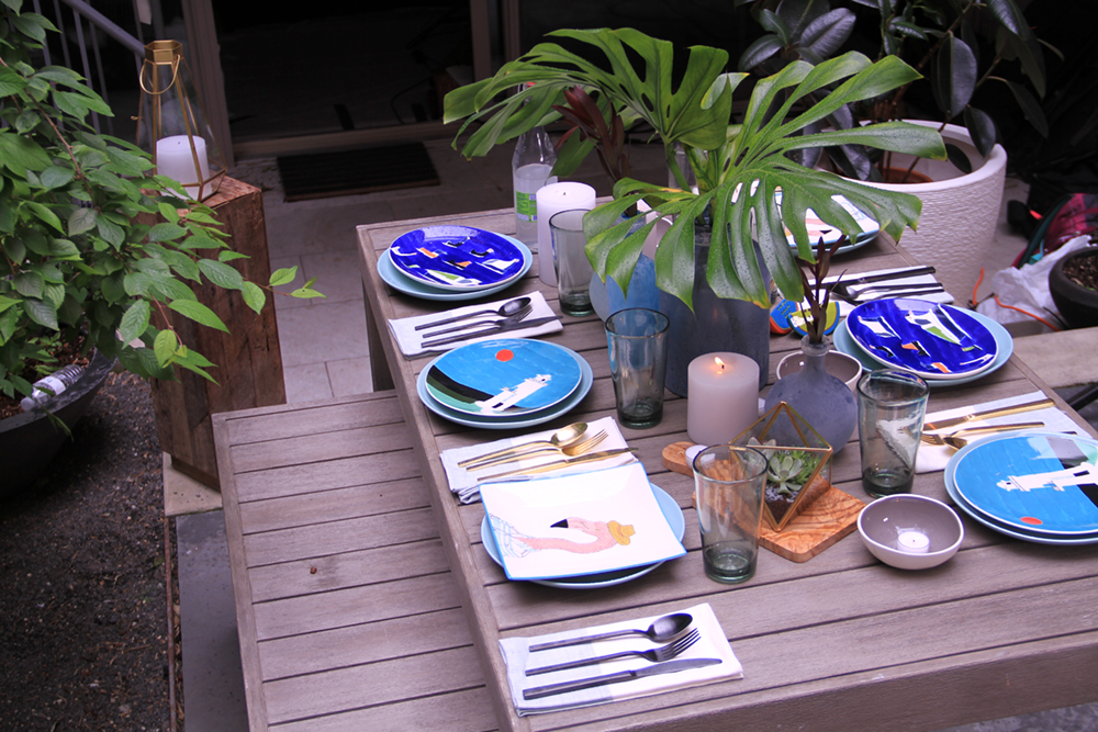 set up an outdoor dinner party with a beachy vibe lubbock real