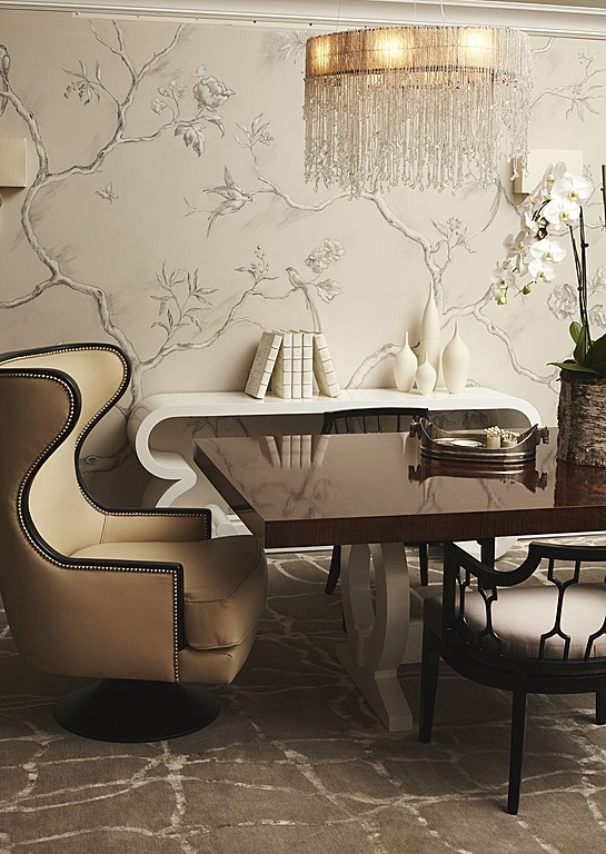 Erinn V Design Group created this contemporary dining room for a client.