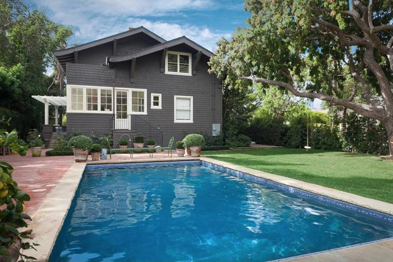Cover swimming pools when not in use to prevent water from evaporating. Courtesy of Zillow Digs.