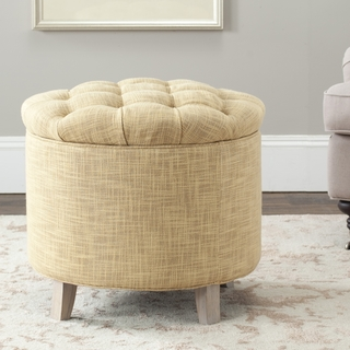 Safavieh Reims Light Gold Storage Ottoman