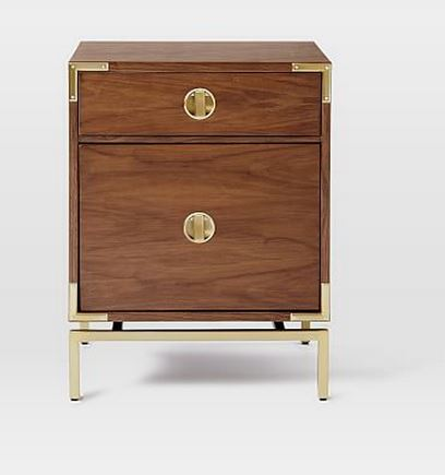 Malone Campaign Nightstand, $399, West Elm