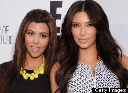 Kourtney and Kim Kardashian. Source: Huffington Post