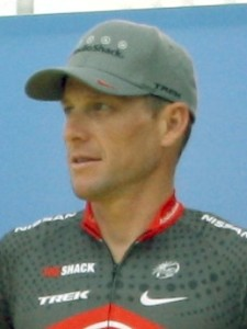 Lance Armstrong at the 2010 Tour de France team presentation in Rotterdam. Source: Wikipedia Commons