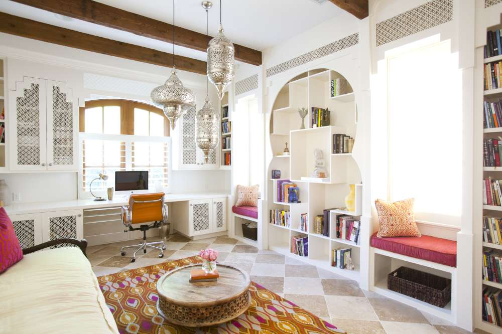 A texas town house goes moroccan zillow porchlight for Modern home decor houston