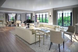 Lena Dunham's living room