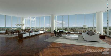 A rendering of a condo at One57.