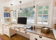 A light and bright work space by Thea Home Inc.