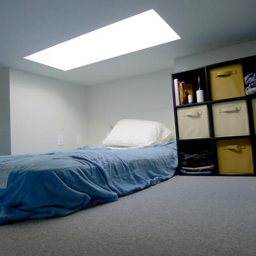 Peter's loft bedroom