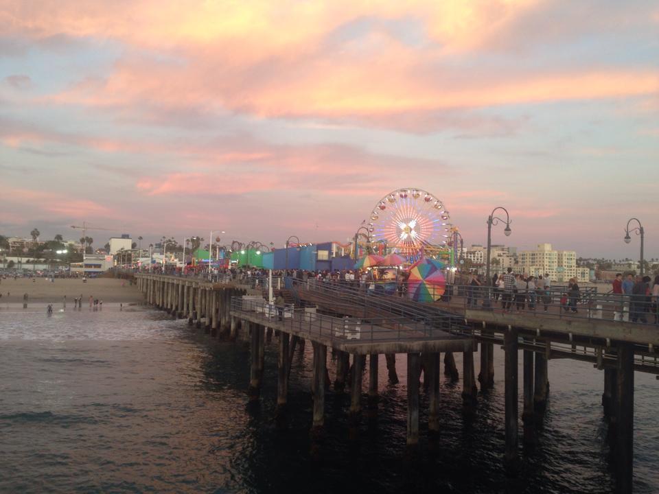 Santa Monica Pier. Source: Erica Wernick of LA Bound