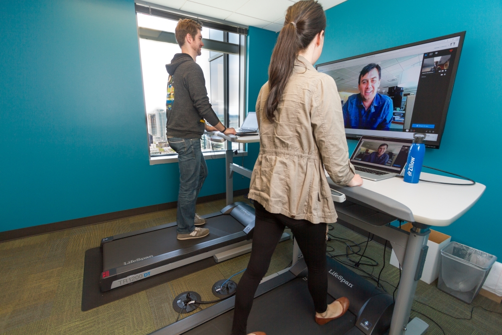 Walking While Working Zillow S Treadmill Desk Lifestyle