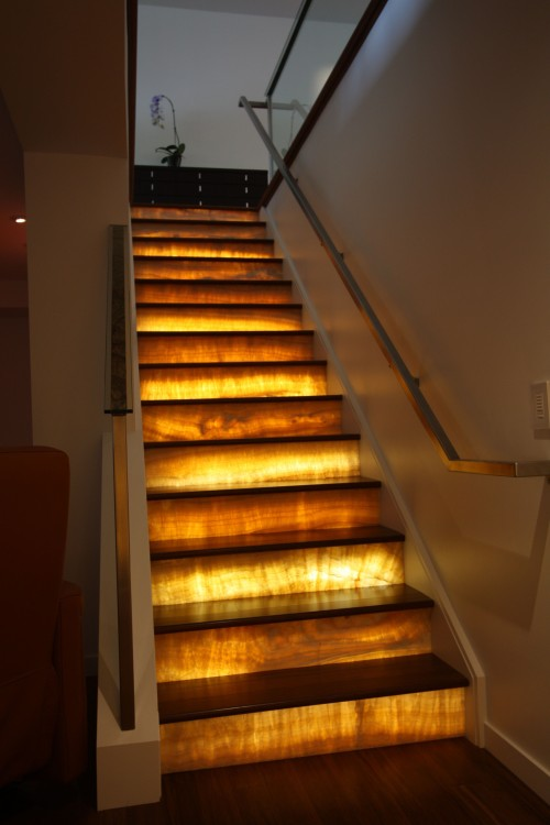Stairs with lights by Architectural Justice