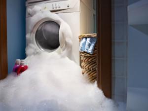 Washing machine overflows