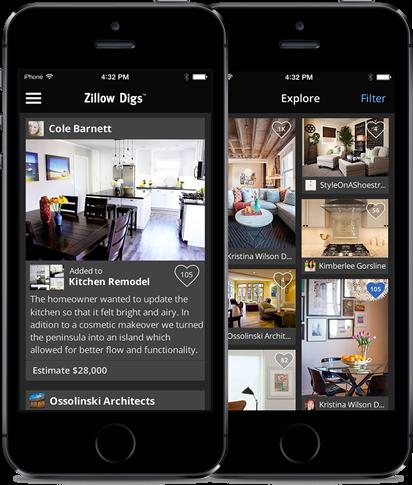 Zillow Digs iPhone app