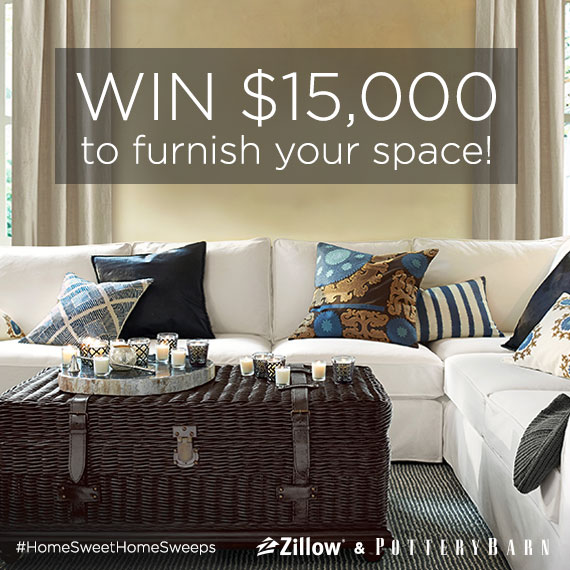 Win $15,000 in Zillow's Home Sweet Home Sweepstakes