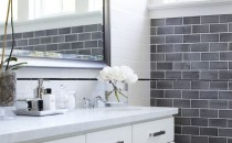 bathroom tile by Urrutia Design