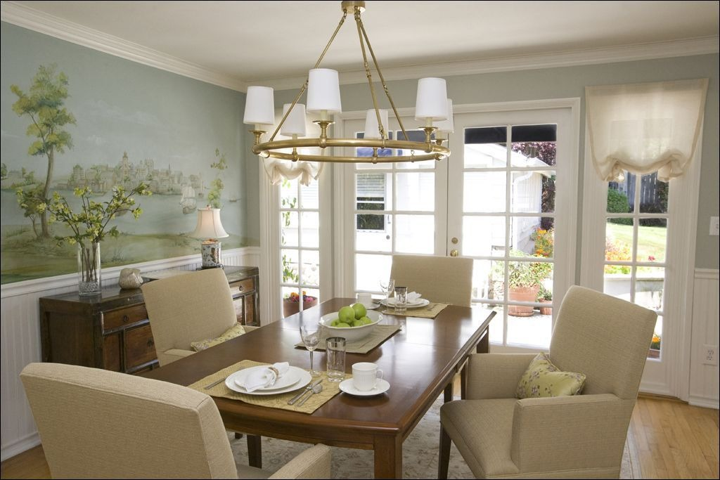A brass light fixture is a simple addition.