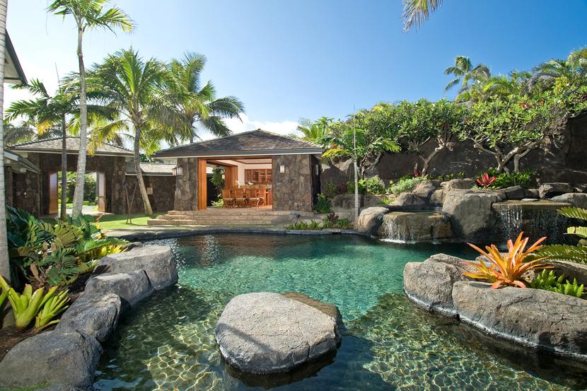 House of the week celebrity hawaiian estate hosted for Pool design honolulu