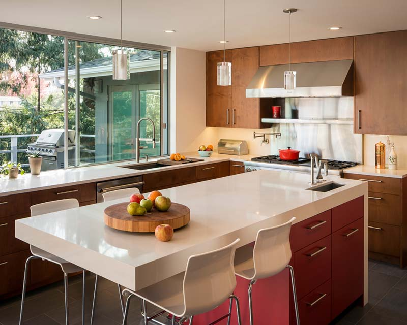 6 top spots for a second kitchen sink zillow porchlight - Kitchen island with cooktop and prep sink ...