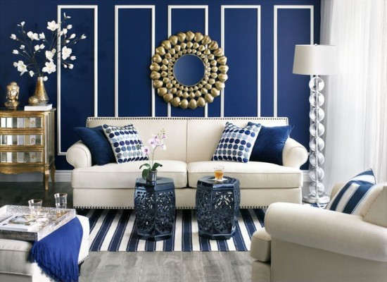 Royal Blue Living Room Ideas  Modern House