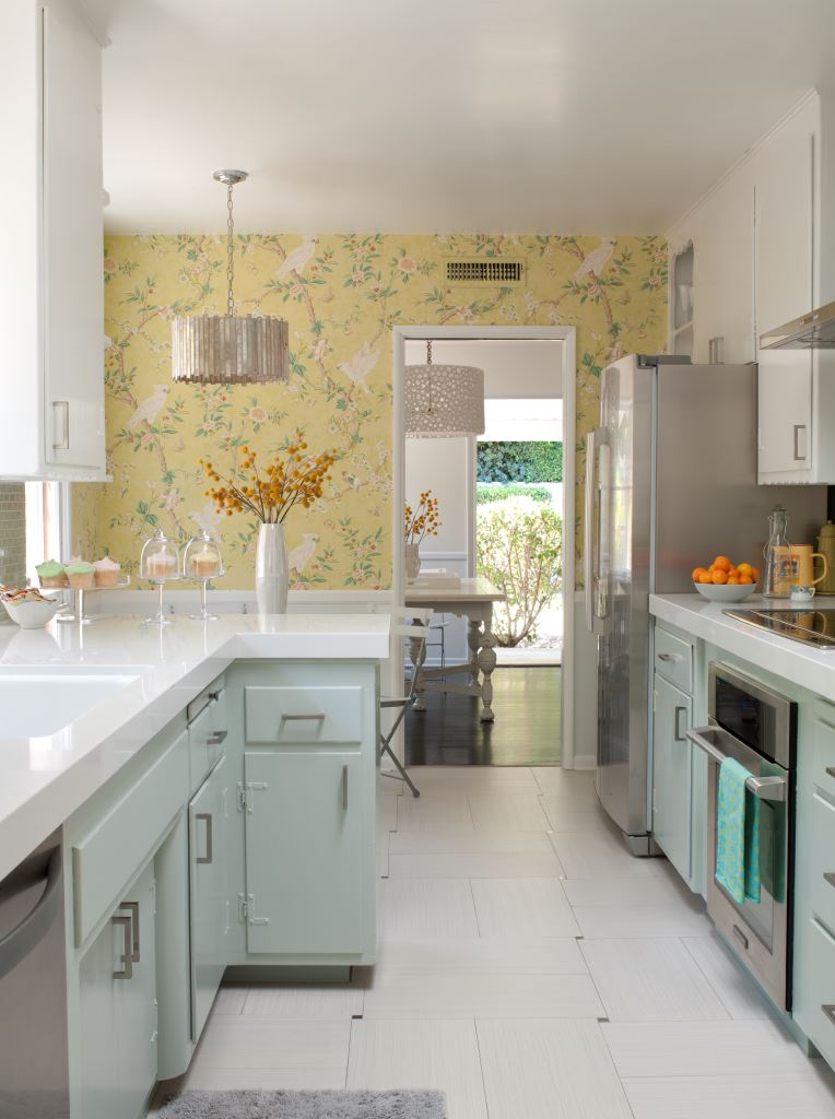 Before after a 1950s kitchen gets an affordable upgrade for 50 s style kitchen designs