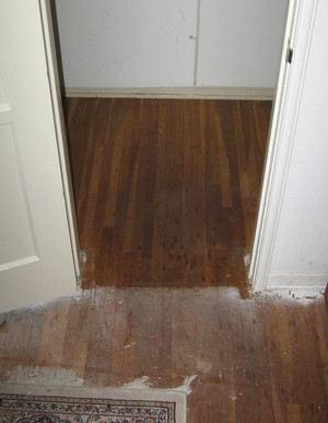 wood under carpet