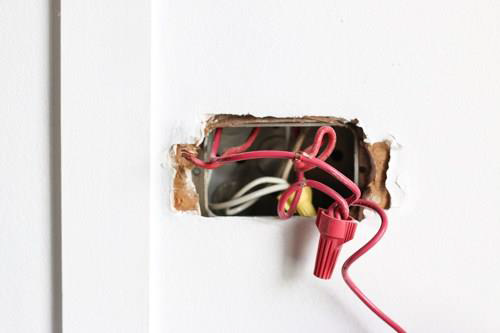 Diy changing a light switch ccre step 2 the very first thing you should do before starting this project is turn off the electricity to this light switch go to the electrical panel in your solutioingenieria Choice Image