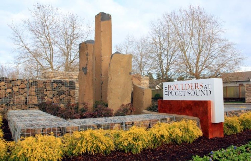 Landscape Boulders Tacoma : Saw the sign attracting renters to your apartment community