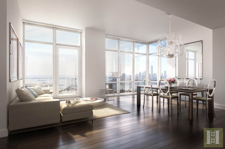 The penthouse on the 46th floor of 388 Bridge Street. Listed for $1.6M.
