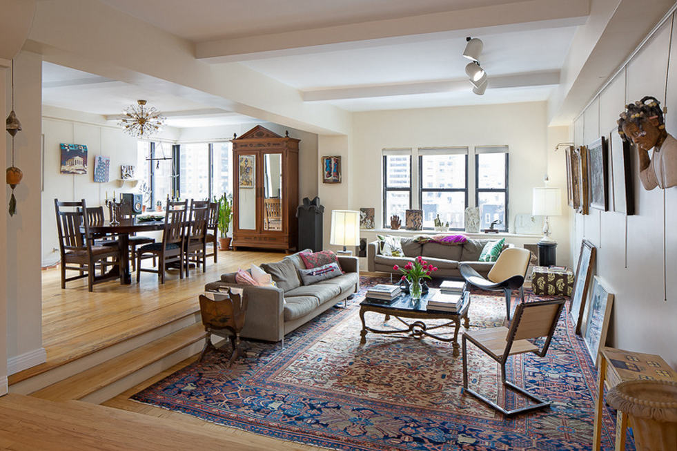 Sunken living rooms are a feature of prewar style.